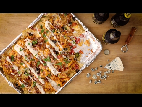 How To Make Kickin' Buffalo Chicken Nachos | Party Recipes | Allrecipes.com