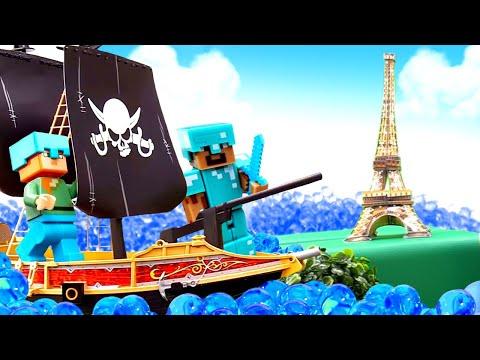 Видео про игру Майнкрафт - Путешествия Стива! – Игрушки Майнкрафт Лего.