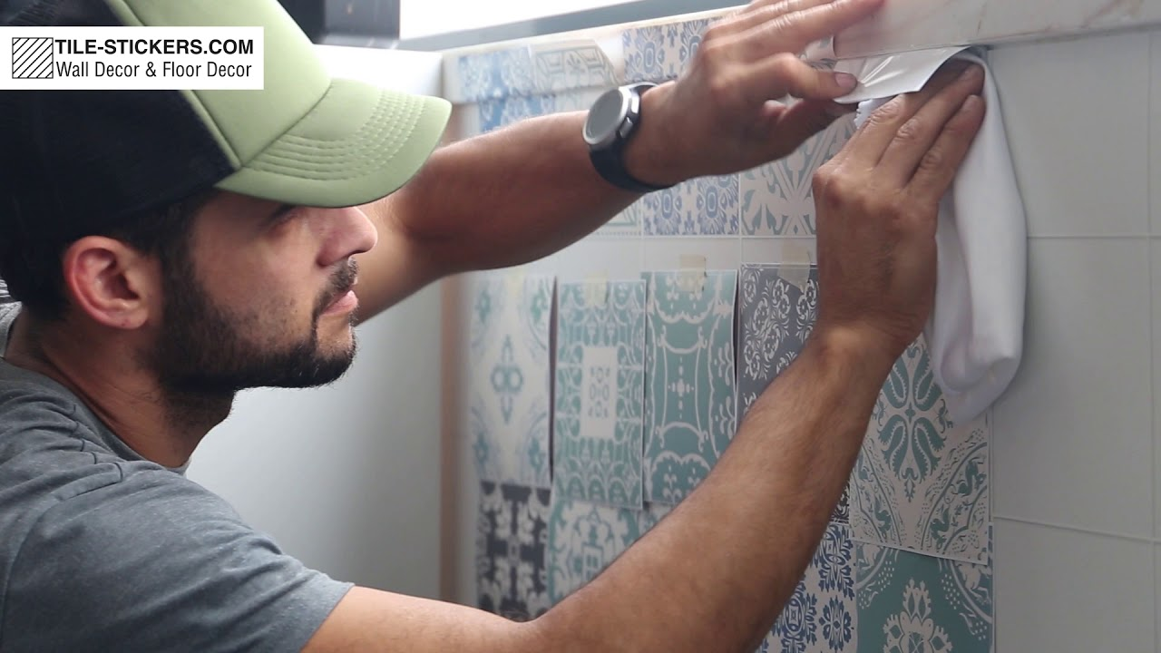 how to apply wall tile stickers