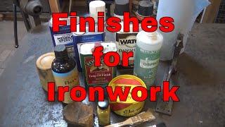 Finishes for ironwork - blacksmithing for beginners