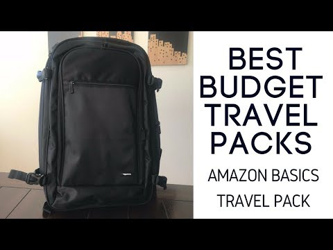 Best Budget Travel Packs: Amazon Basics Carry-On Travel Backpack