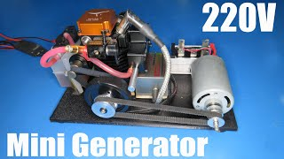 How to make a 220V mini generator with toyan engine