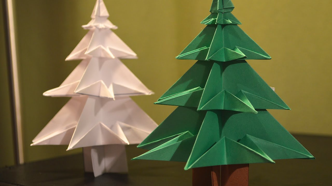 How to Make a Paper Christmas tree  YouTube