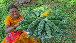 BITTER GOURD !! Chips  Healthy Village Food Cooking  Easy Snacks Recipes  Side Dish Recipes