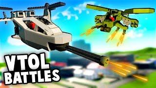 Amazing HALO Gunship vs TANKS!  (Brick Rigs Battles & Best User Creations - Lego VTOL)