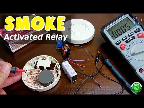 Smoke Activated Relay Circuit(Modified Smoke Alarm)