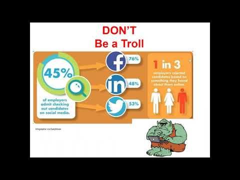 Social Media Dos and Don'ts for Career Advancement and the Job Search