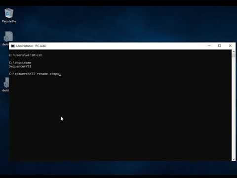 Windows 10 powershell set hostname
