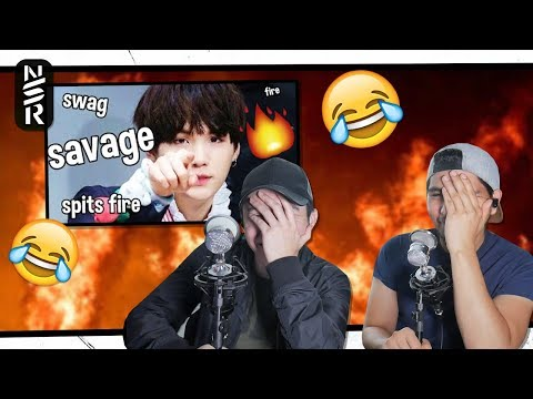 GUYS REACT TO 'SAVAGE SUGA, the guy who spits fire #AGUSTD'