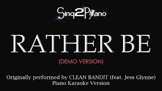 Rather Be (Piano Karaoke demo) Clean Bandit