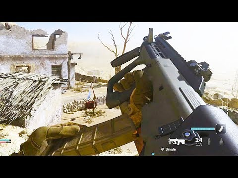 NEW AUG W/ STOPPING POWER Modern Warfare Multiplayer Gameplay