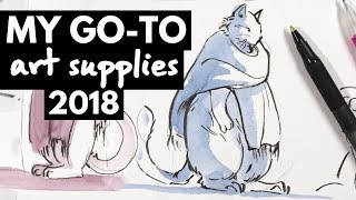 My Go-To Art Supplies & Must-Haves 2018