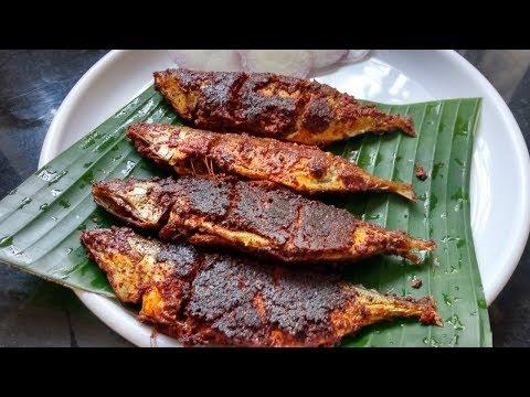 Fish Tawa Fry,,,, Mackarel   Bangude Fish Masala Fry Recipe.