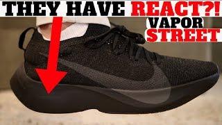Newest Nike REACT Shoe!? 'VAPOR STREET FLYKNIT' = Most Confusing Sneaker Of 2018