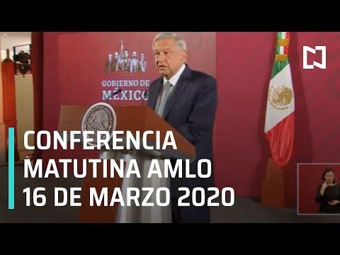 Conferencia matutina AMLO - 16 de marzo de 2020