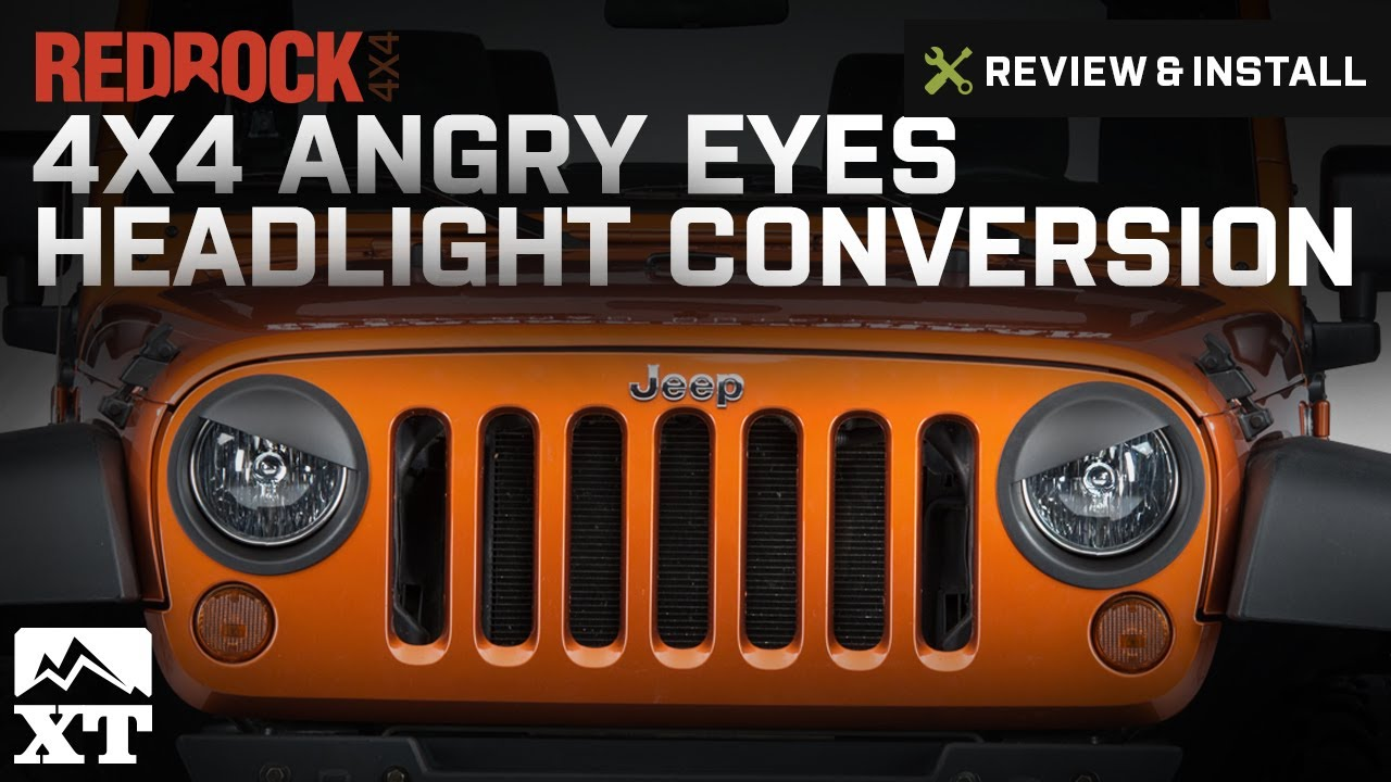 Jeep Wrangler Redrock 4x4 Angry Eyes Headlight