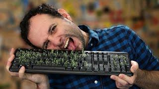 Pegadinha da horta no teclado