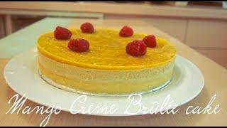 Mango Crème Brûlée Cake