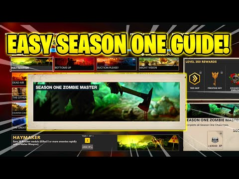 EASY SEASON ONE ZOMBIES MASTER GUIDE (MAX Calling Card) (Challenge Guide) (Cold War Season One)