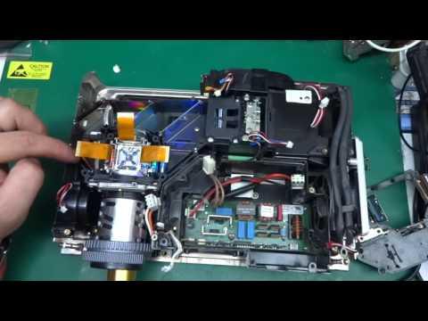 Sanyo PLC-SE20A Multiverse projector teardown (one way) - lots of optics