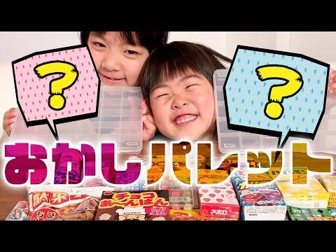 【お菓子】おかしパレット初挑戦!駄菓子屋さんで大量購入★小学3年生v.s.保育園児 日曜家族#857 (*´ω`*)