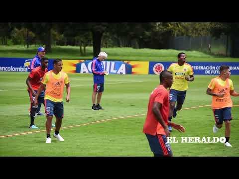 La Selección Colombia ya entrena en Bogotá