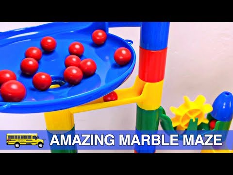 Toddler Learning Colors - Fun Marble Maze Teaching Colours for Children Organic Learning