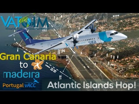 Vatsim Atlantic Hop, Canaries to Madeira in a Q400