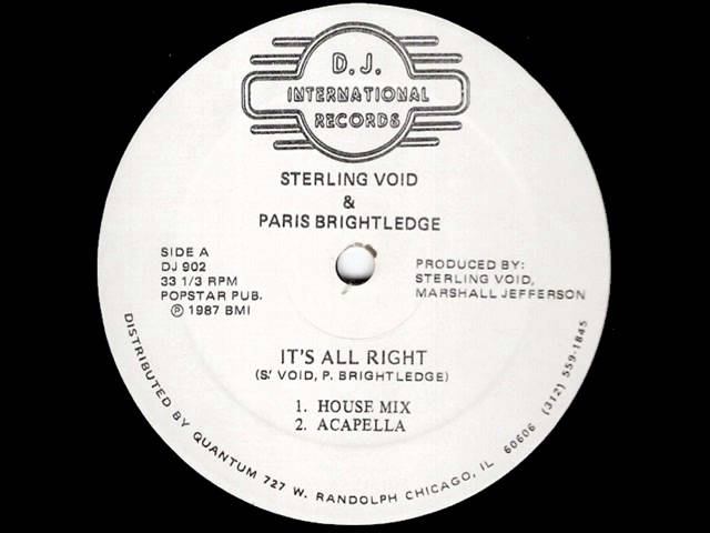 Sterling Void & Paris Brightledge - It's Gonna Be Alright (House Mix)