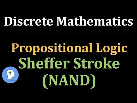 Discrete Maths: Sheffer Stroke | NAND operator