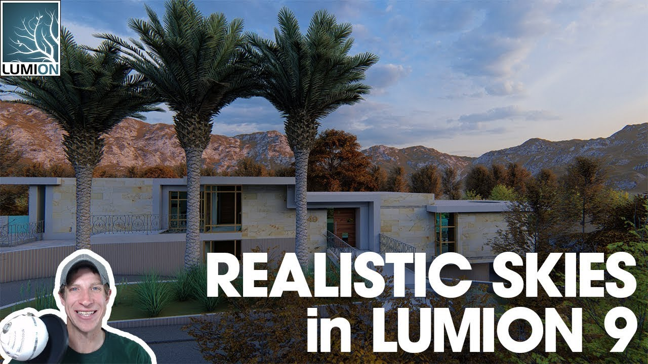 PHOTOREALISTIC SKIES IN LUMION 9 with Real Skies! - The