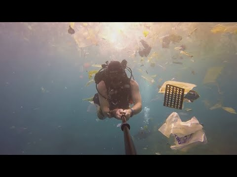'So much plastic!': British diver films deluge of waste off Bali