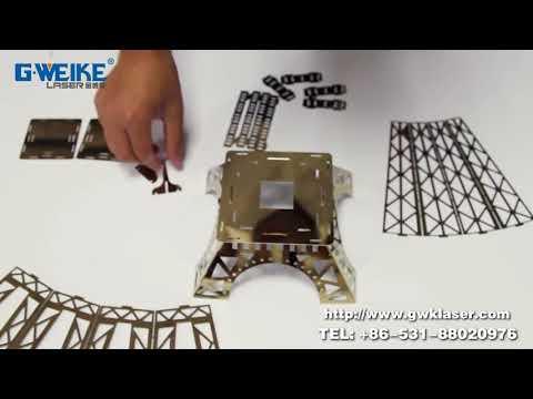 DIY 3D Metal Eiffel Tower with LF3015L Fiber Laser Cutting Machine