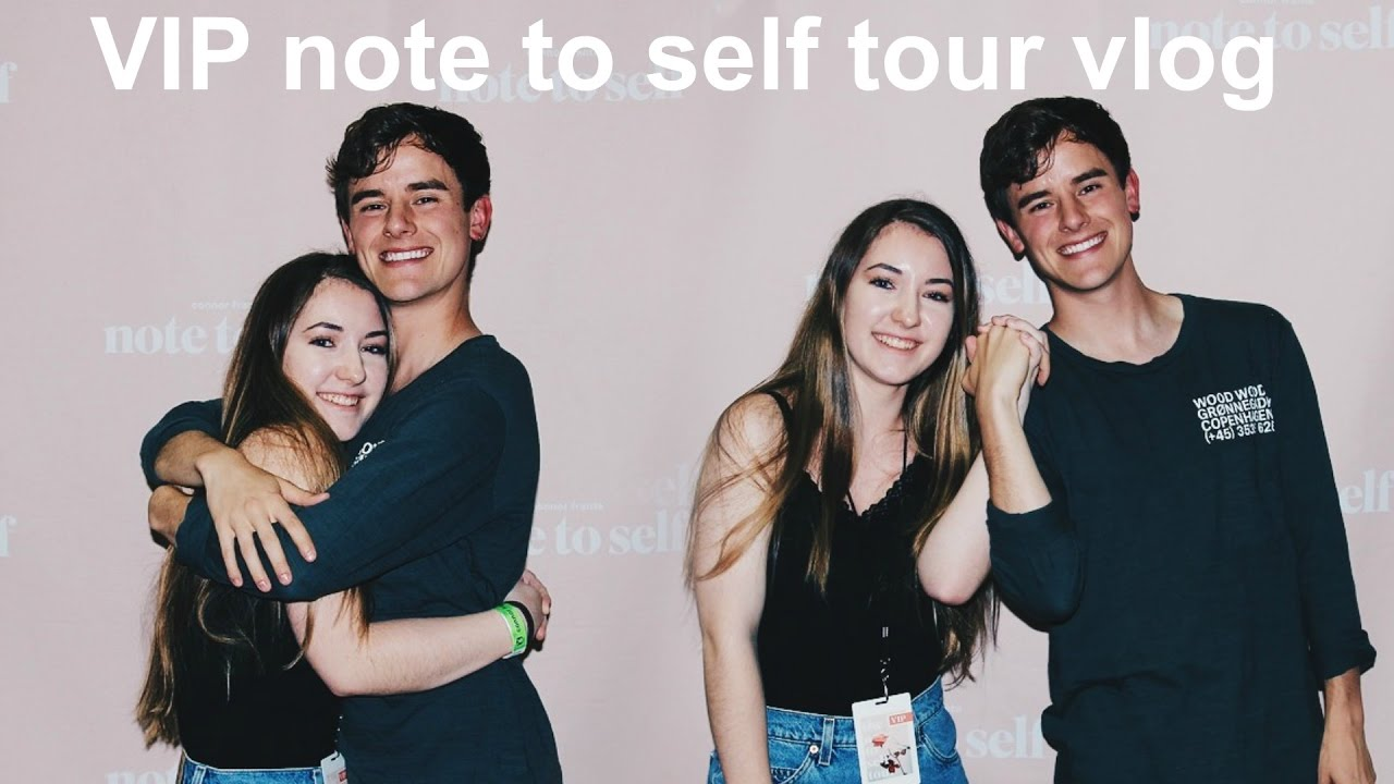 Note To Self Book Tour Vlog Meeting Connor Franta Lauren