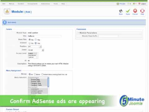 Adding Google AdSense Ads To Joomla