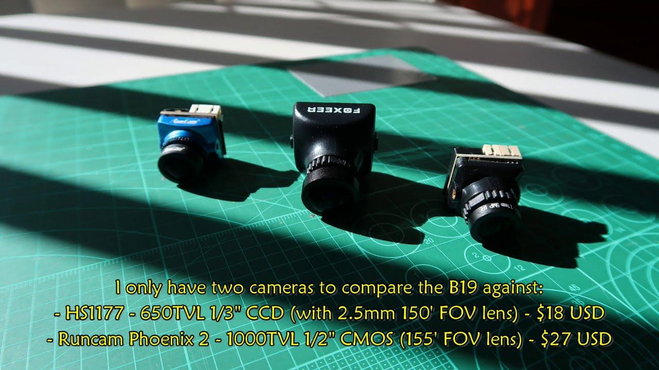 JJA Mini B19 1500TVL, $12 FPV Camera Review (compared with Runcam Phoenix 2) картинки