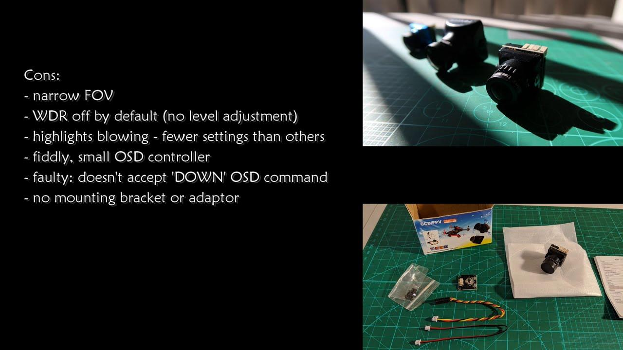 JJA Mini B19 1500TVL, $12 FPV Camera Review (compared with Runcam Phoenix 2) фотки