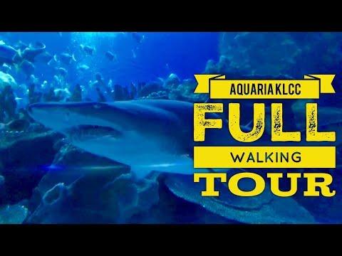 Aquaria KLCC Full Walking Tour 1080P 60FPS Kuala Lumpur Malaysia