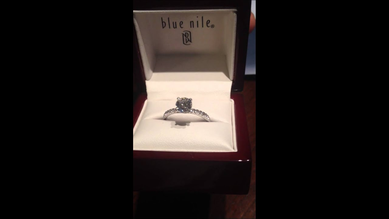 Blue Nile Petite Pave Engagement Ring YouTube