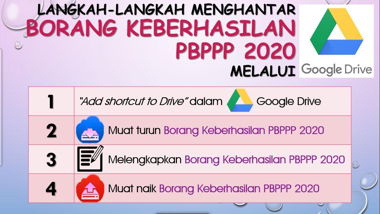 Langkah Langkah Menghantar Borang Keberhasilan Pbppp 2020 Melalui