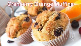 Cranberry Orange muffins- dried cranberries