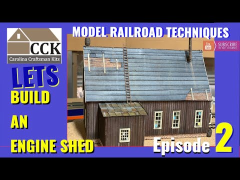 Pine Valley Engine Shed by Carolina Craftsman Kits Episode 2-roofs and realistic detail parts
