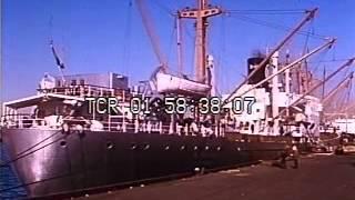 Stock Footage - Cargo Ship, 1960's