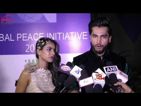 Nia Sharma With Mr. World Rohit Khandelwal At Global Peace Initiative