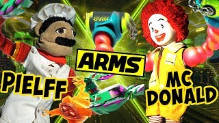 ABM:  Crazy Anger Madness !! Ronald McDonald Vs Chef Pielff !! ARMS Match !! HD