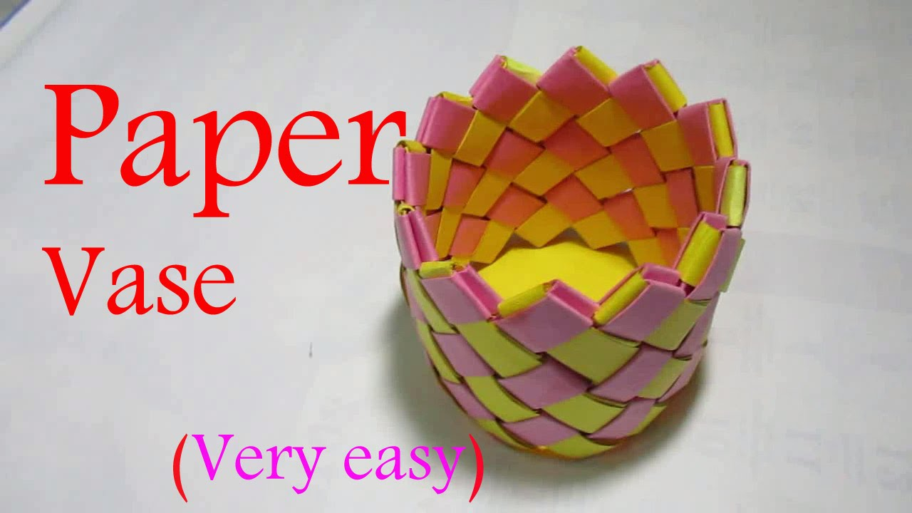 Paper vase paper vase making step by step youtube mightylinksfo
