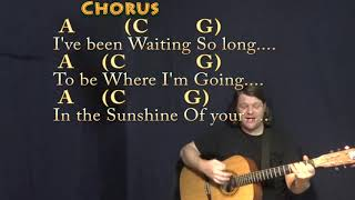 Sunshine of Your Love (Cream) Strum Guitar Cover Lesson in D with Chords/Lyrics