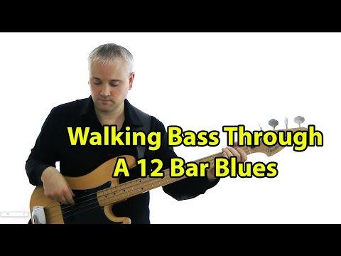 Walking Bass Through a 12 Bar Blues (L#120)