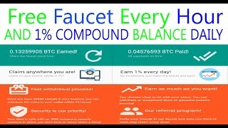 Free Unlimited Earn Bitcoin Faucet + Investment Compounding Earn While You Sleep