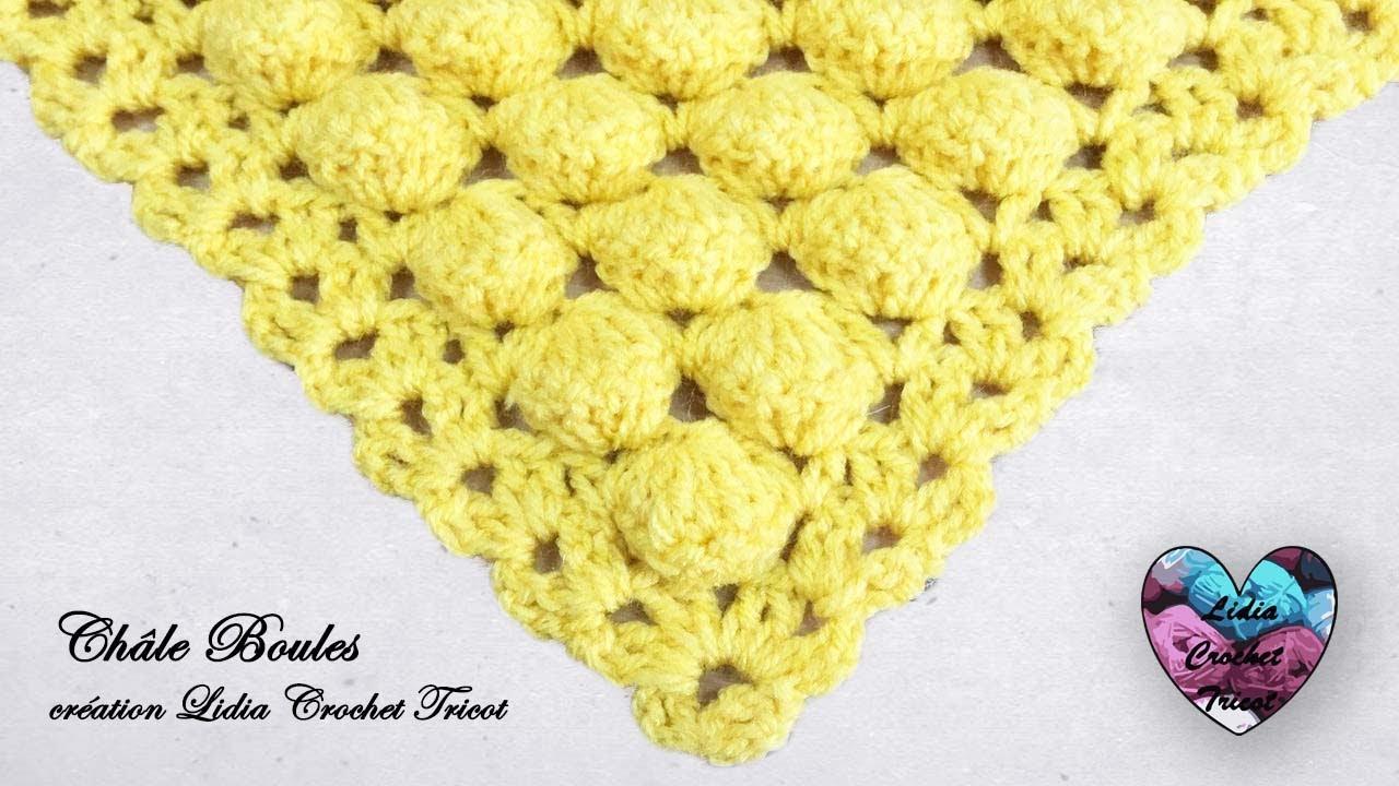 Shawl Ball Stitch Crochet Easy English Subtitles